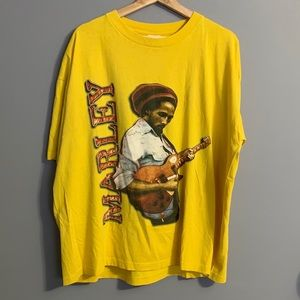Vtg Bob Marley Mens Two-Sided Tshirt Size XXL